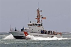 Roberts knew he was busted when the Coast Guard cutter Gannet ordered him to lower his sail.