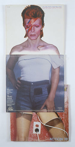 "Christian Marclay's David Bowie from the series ""Body Mix"""