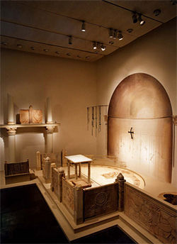 Bones, crosses, and a reconstruction of a Byzantine temple give a glimpse of early Christianity.