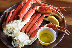 Hooters&#039; crab legs.