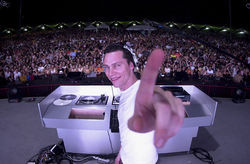 An early shot of DJ/producer Tiësto.