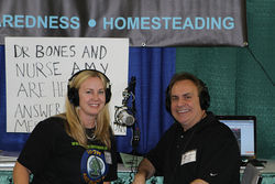 """Nurse Amy"" and ""Doctor Bones"" host a popular prepper podcast."