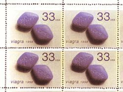Michael Hernandez de Luna&#039;s Viagra stamps. All the artists have lawyers.