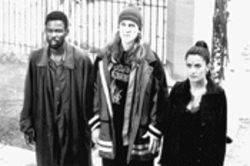 The performances of Chris Rock (left), Jason Mewes, and Salma Hayek are heaven-sent