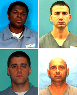Clockwise from top left: Antonio Andrew, a car thief; Rosendo Betancourt, who helped police lay the trap; Roger Gonzalez Sr., the group&#039;s ringleader; and his son, Roger Gonzalez Jr., the raid&#039;s only survivor.