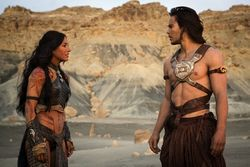 Lynn Collins and Taylor Kitsch use a quarter-billion dollars of Disney money to save Mars.