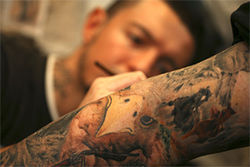 Carrera went from tagging walls to extraordinary work tattooing professional clientele.