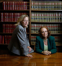 After getting booted from the Attorney General's Office a year ago, June Clarkson (left) and Theresa Edwards started a private law partnership in Fort Lauderdale.