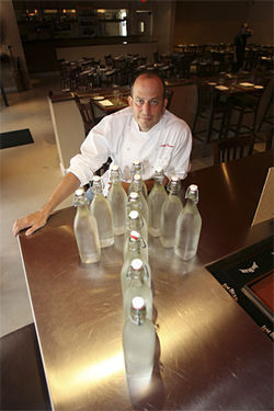 Chef Jonathan Eismann sells plastic bottles no more.
