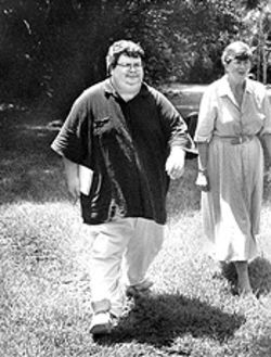DeFede walks, Ridder talks in a photo from better days, here with Janet Reno.