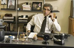 Eugene Levy eats bagels and plays phone tag.