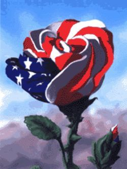 "Paul Vincenti's ""American Rose,"" his contribution to the Art from the Heart fundraiser"