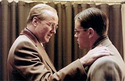 William Hurt (left, with Damon): Just another boss in the firm