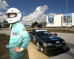 Cliff Rassweiler built a lithium-powered race car in suburban Miami.