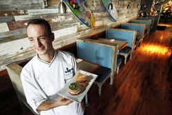 Chef Victor Malaric used to cook at Brooklyn Label's daytime café and at Zoë before taking the helm at Longboards.