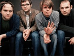 Indie aphrodesiac: DCFC's Nich Harmer (left), Ben Gibbard, Chris Walla, and Jason McGerr