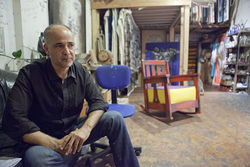 Máximo Caminero inside his studio at 77th Street and Biscayne Boulevard.