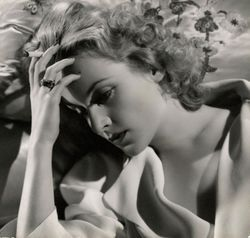 "Carole Lombard posed for this promotional photo for 'Vigil in the Night"" in 1939."