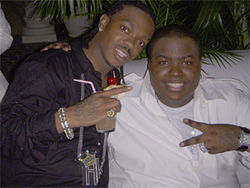 "Raheem ""Hype King"" Robinson and Sean Kingston celebrate in Jamaica."