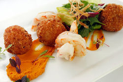 Florida rock shrimp arancini.