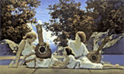 Maxfield Parrish made dreamy paintings.