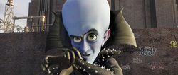 Megamind (Will Ferrell) calls for backup.