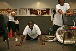 His Hallandale High band room is a place for discipline and inspiration.