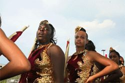 At Hallandale High, band has more social cachet than football.