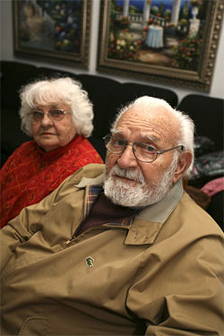 Retired teachers Albert and Mayetta Scartz, both 85, invested about half a million dollars in Steinger&#039;s Mutual Benefits.