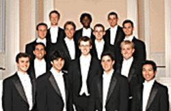 The Whiffenpoofs do it up, sans instruments.