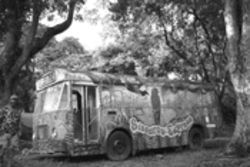Parrotmobile: The Sisserou Express awaits passengers at Dominica's Botanical Gardens