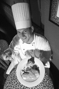 King of the jungle: Executive chef Doug Barg serves his macadamia-encrusted snapper