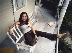 Chillin' in N'awlins: Ani DiFranco finds time to relax.