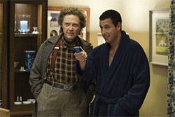 Walken (left) and Sandler: A remote that's beyond remote.