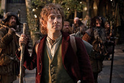 The likable Freeman as the young Bilbo.