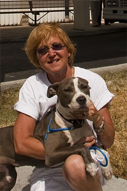 Dahlia Canes adopted Diva last week and will find her a home in Broward County.