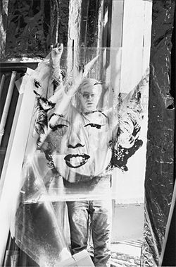 Warhol by Kennedy: The artist, shot through his own silkscreen