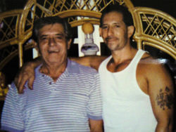 Stevie Febonio with his father, Edwin, in happier times.