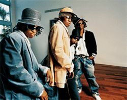 From boyz II men: Pretty Ricky (from left, Spectacular, Pleasure, Baby Blue, and Slick 'em) is growing up.