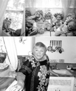 At 78 years of age and hobbled by a stroke, Luise Buettner spends most of her time in an apartment at the Noble surrounded by a collection of dolls and smiling gnomes