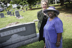 Miami City Cemetery preservationists Penny Lambeth and Enid Pinkney joined Temple Israel's past president Stanley Tate to derail the skate park's location.
