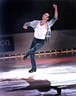 Imagine Laverne & Shirley's Squiggy on ice skates and you've got Brian Boitano.