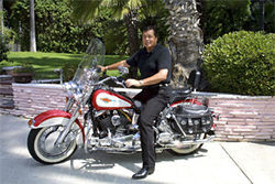 Engelbert loves his hog.