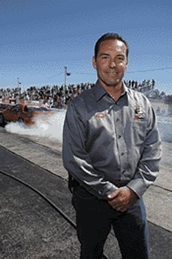 Hoyos seeks dragster immortality.