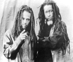 New singer Andrew Bees (left) and old sage  Duckie Simpson of Black Uhuru