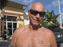 "After his son died, David Jones tattooed ""Zak 1975-2005"" on his chest."