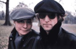 Ono and Lennon in Central Park
