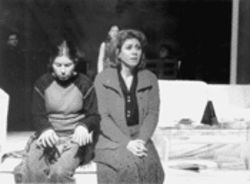 Amy Love (left) and Jessica K. Peterson play songs in the key of life and death