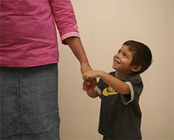 Joshua Cruz, 3, has chronic bladder infections.