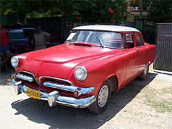 Interested in a cherry-red 1955 Plymouth? It&#039;s listed for 5,000 pesos ($5,300).
